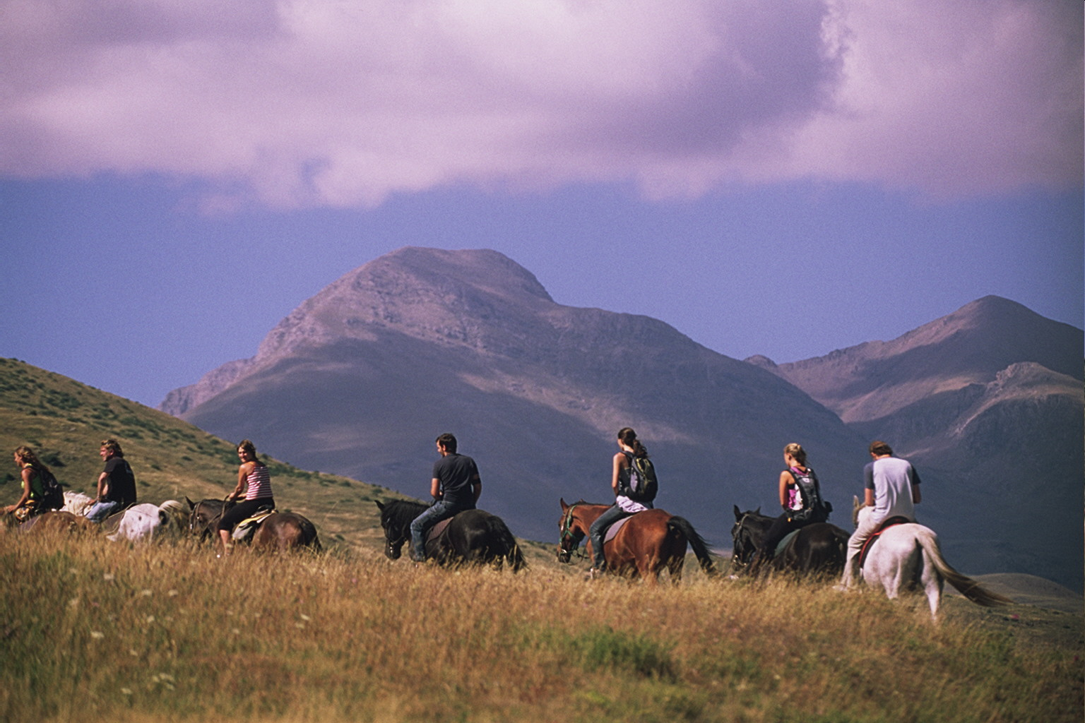 Go horse-riding in the mountains